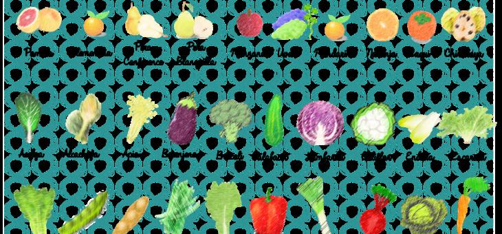 Frutas, verduras y hortalizas de Enero